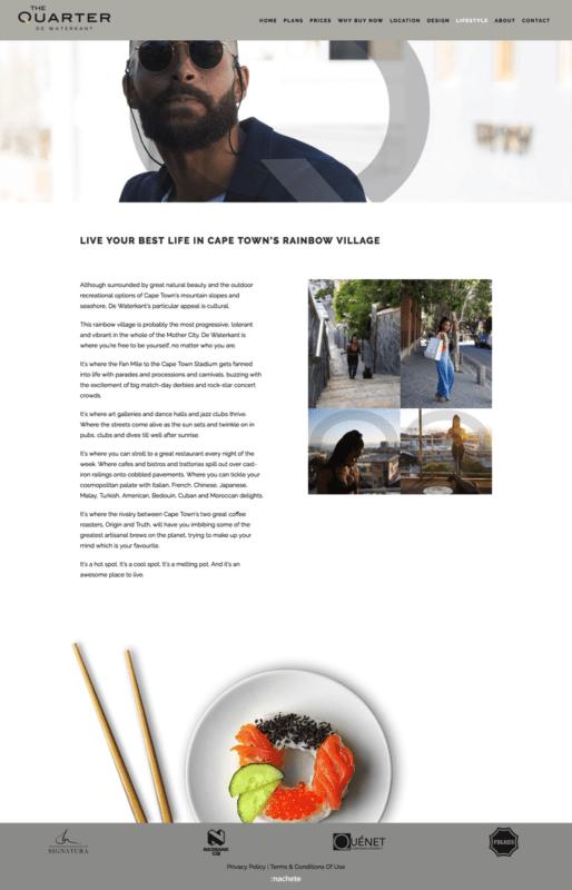 Machete Creative 22 Jul, 2021 THE QUARTER WEBSITE