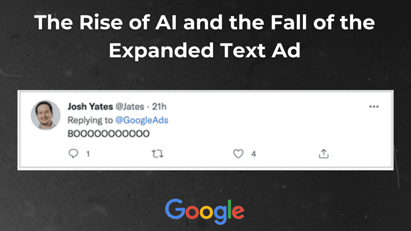 Machete Creative 16 Oct, 2021 The Rise of AI and the Fall of the Expanded Text Ad