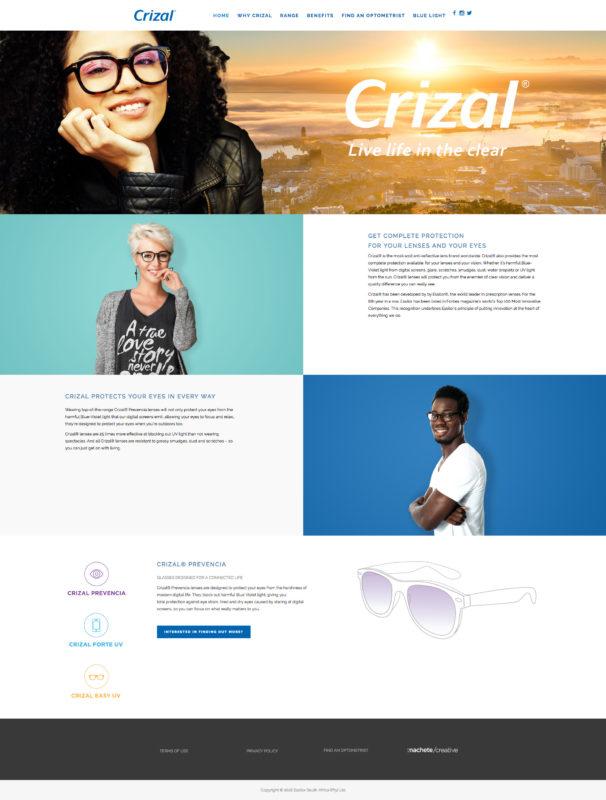 CRIZAL WEBSITE - Machete Creative