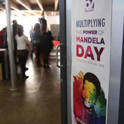 The inaugural 67 SQUARED Mandela Day Design-a-thon was held at Machete Creative on 18 July 2018